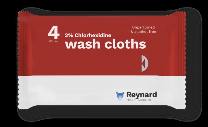 chlorhexidine wash cloths
