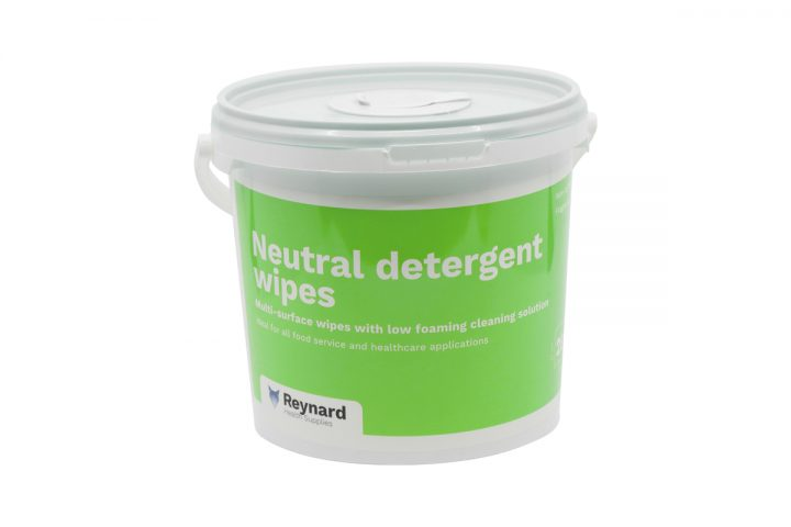 Tub of reynard neutral detergent wipes
