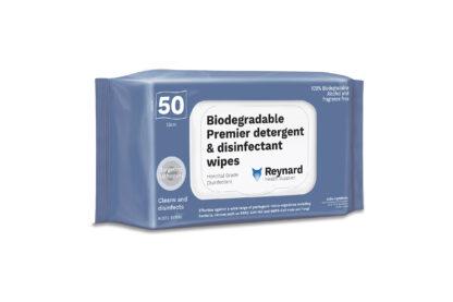 Biodegradable Premier detergent & disinfectant wipes