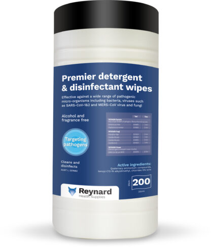 Premier detergent wipe canister