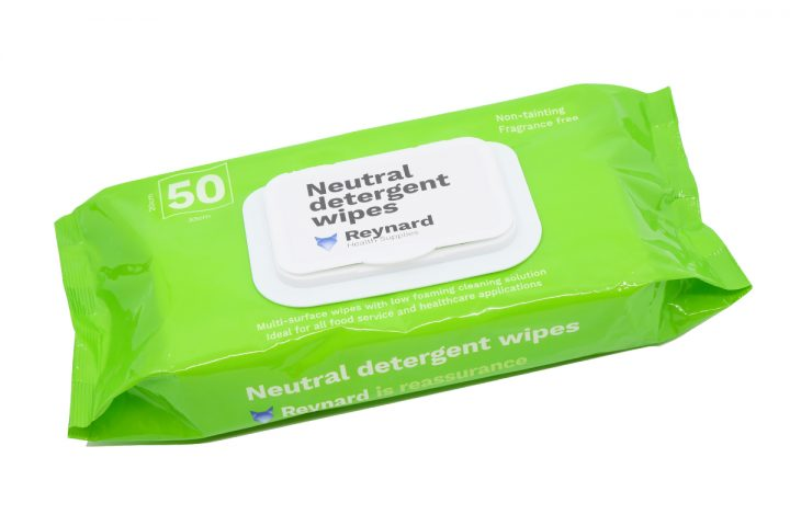 Pack of Reynard neutral detergent wipes